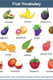 Fruits in English – [2]