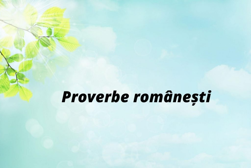 Proverbe (I)