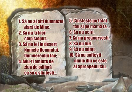 Recapitulare Cele 10 porunci și profeții
